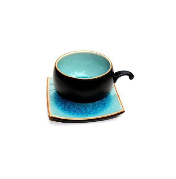 Cendrier bleu soucoupe 20cm