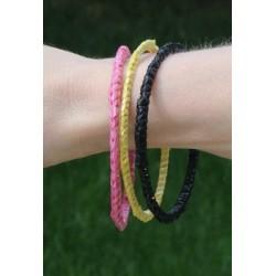 3 bracelets recyclage sacs plastiques