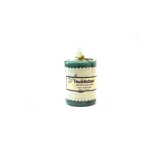 Bougie ronde aux huiles essentielles de menthe poivrée