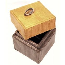 Boîte carrée en cuir 10 cm