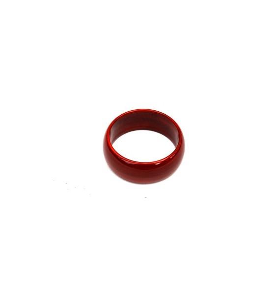 Bracelet bois laqué rubis 3 cm de large