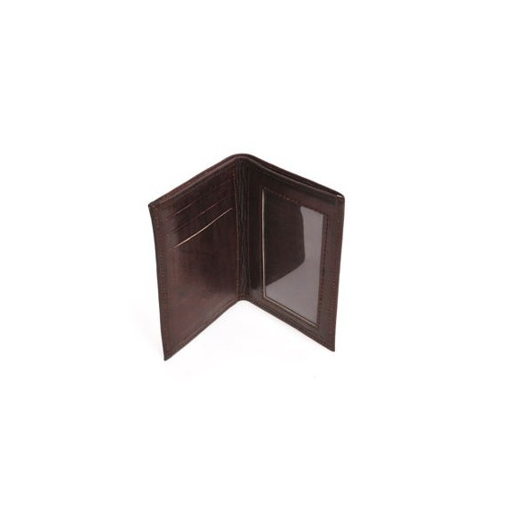 Porte cartes cuir marron