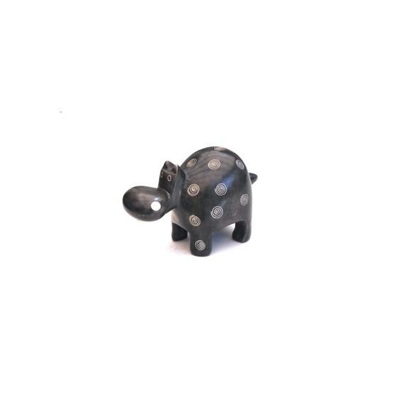 Hippopotame 10 cm gris en saponite