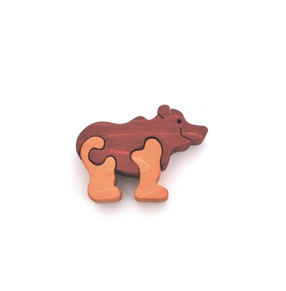 Figurine puzzle ours