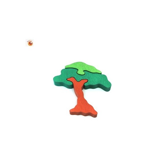 Figurine puzzle acacia
