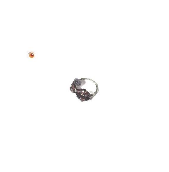 Bague perles de verre mauves