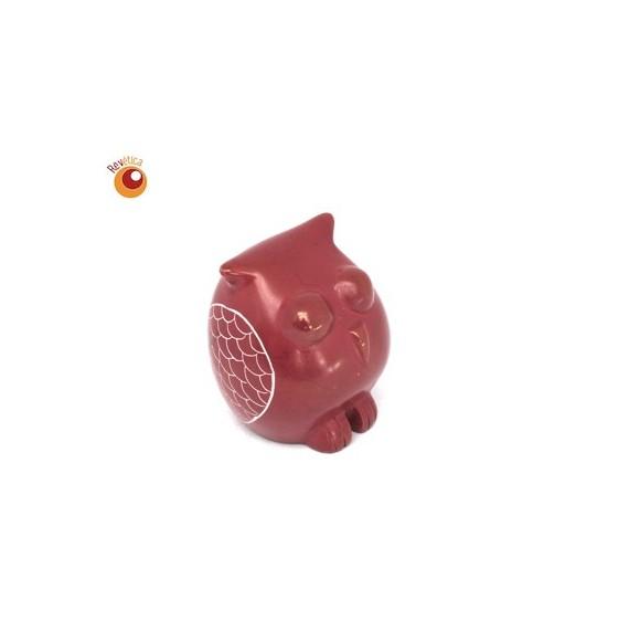 Chouette® 6 cm rouge en saponite