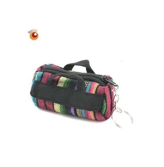 Porte clés mini sac coton
