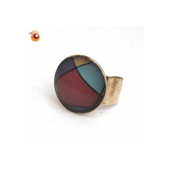 Bague laiton multicolore