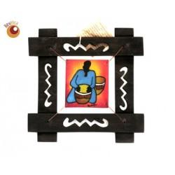 Batik encadré musicien