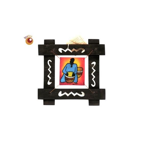 Batik musicien encadré