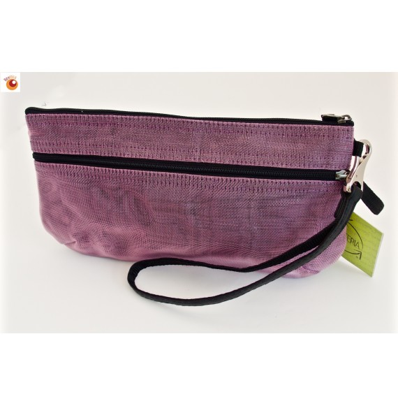 Pochette filet mauve