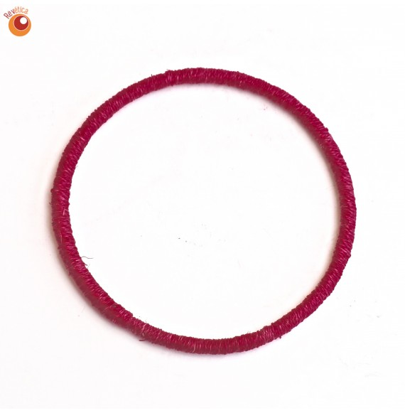 Bracelet sisal rouge