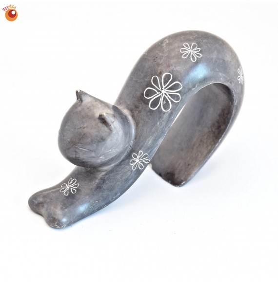 Chat® 6 cm gris en saponite
