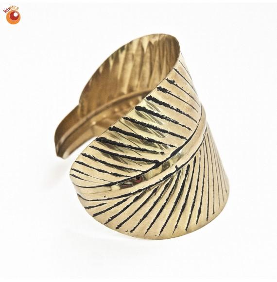 Bracelet adaptable laiton forme feuille