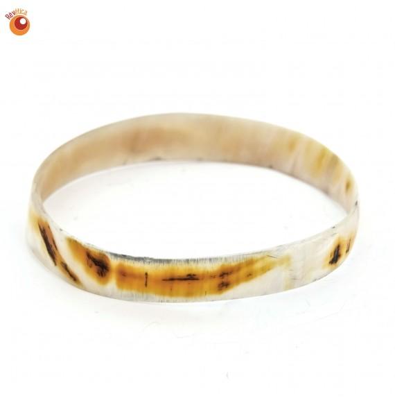 Bracelet corne vache teintée