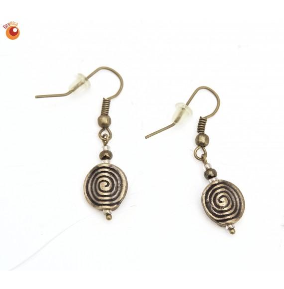 Boucles d'oreilles spirales