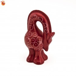 Girafe 8,5 cm rouge en saponite