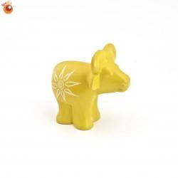 Buffle 5 cm jaune en saponite