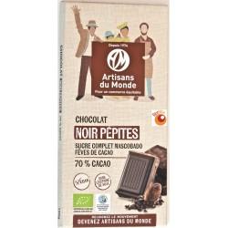 Chocolat bio noir aux pépites 100 g