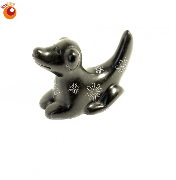 Chien 6 cm marron en saponite