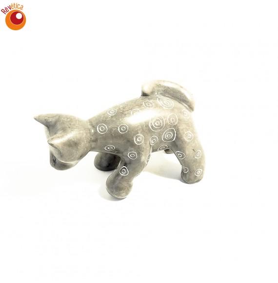 Chat gris avec en saponite balle