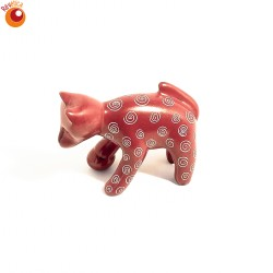 Chat rouge avec balle en saponite