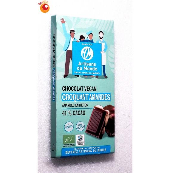 Chocolat bio croquant amandes 100 g