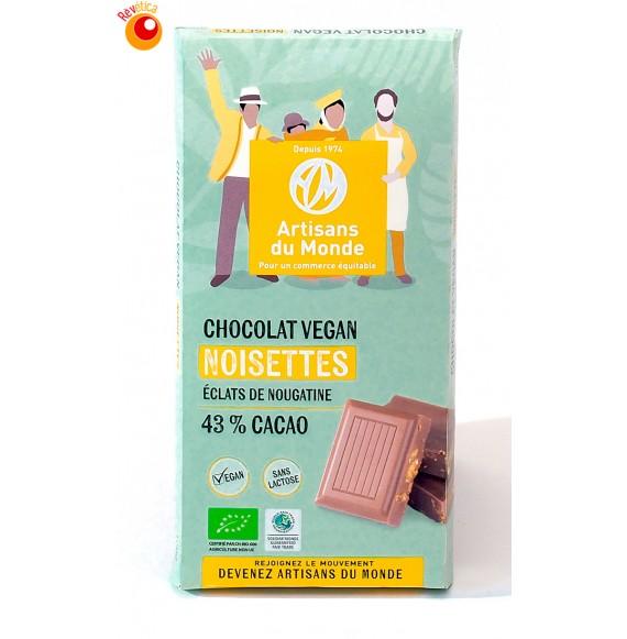 Chocolat bio  vegan noisettes 100 g