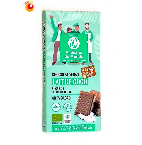 Chocolat bio lait de coco Vegan 100 g