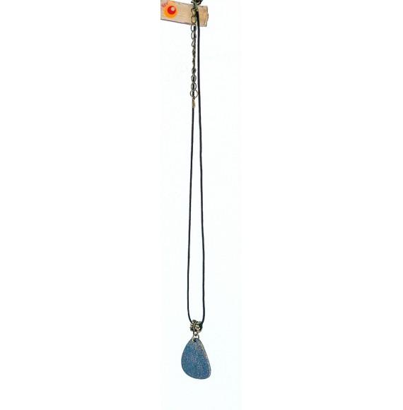 Collier pendentif coquille d'oeuf d'autruche jean