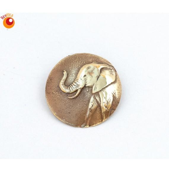 Broche laiton éléphant