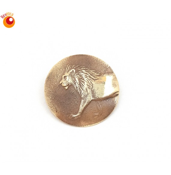 Broche laiton lion