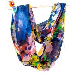 Echarpe tube laine multicolore