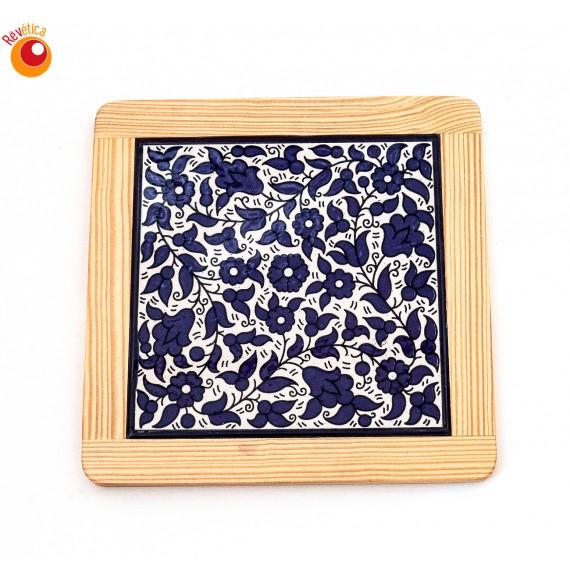Dessous plat céramique bleue
