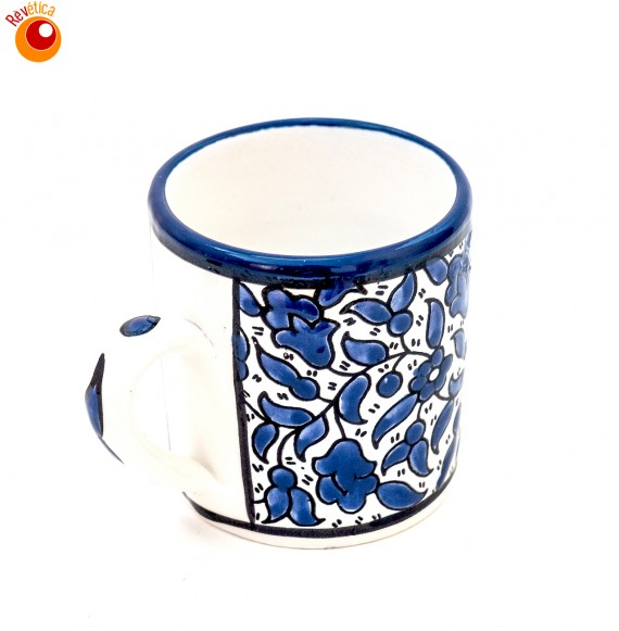 Mug céramique bleue MM