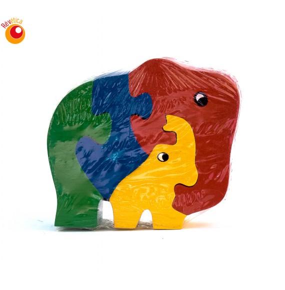 Puzzle éléphant et son petit