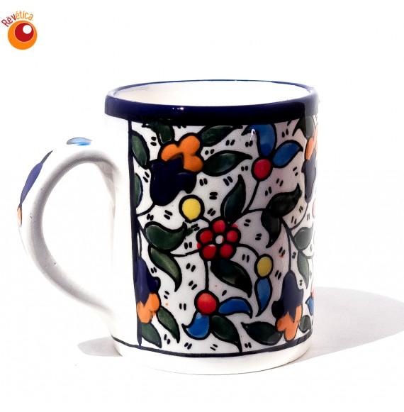 Mug porcelaine émaillée multicolore