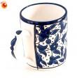 Mug céramique bleue