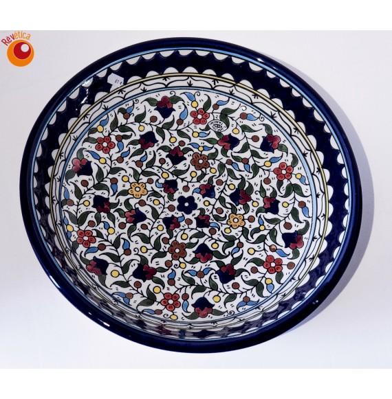 Plat rond creux évasé céramique