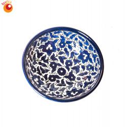 Saladier céramique bleue
