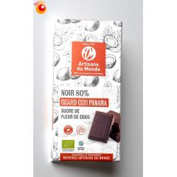Chocolat bio noir 80% grand cru Panama 100 g
