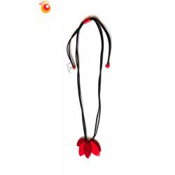 Collier tagua réglable Narcissa rouge