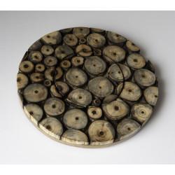 Dessous plat rond bois