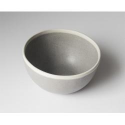 Bol céramique gris et crème