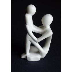 Statue mère et enfant en saponite