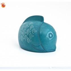 Poisson 6 cm turquoise en saponite