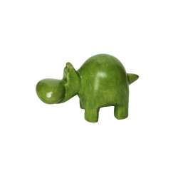 Hippopotame 10 cm vert en saponite